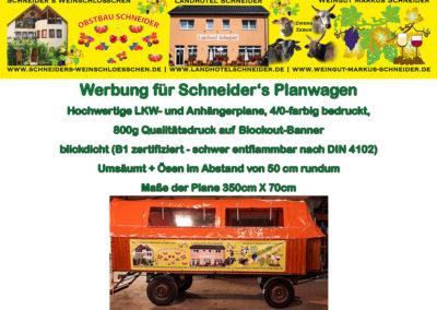 Schneiders-Planwagen