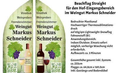 Werbung für das Weingut Markus Schneider