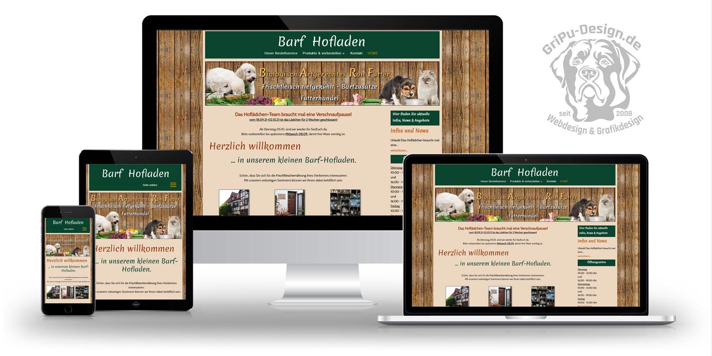 Referenzen Webdesign / Barf Hofladen