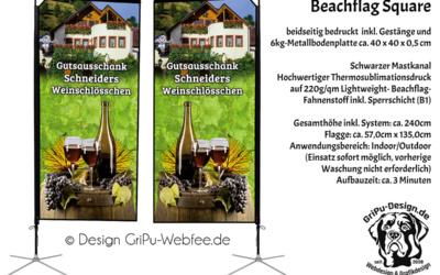 Beachflag Square für Werbung