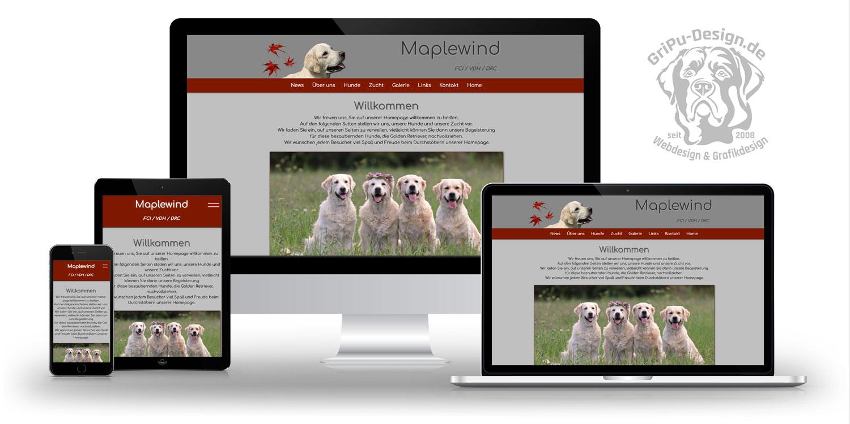 Referenzen Webdesign / Kennel Maplewind