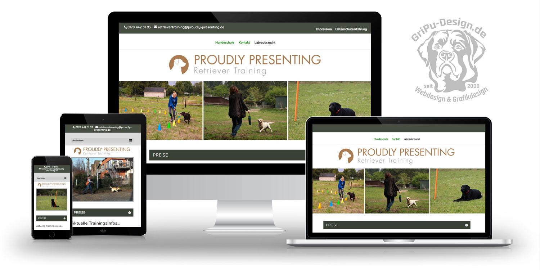 Referenzen Webdesign / Proudly Presenting Hundeschule