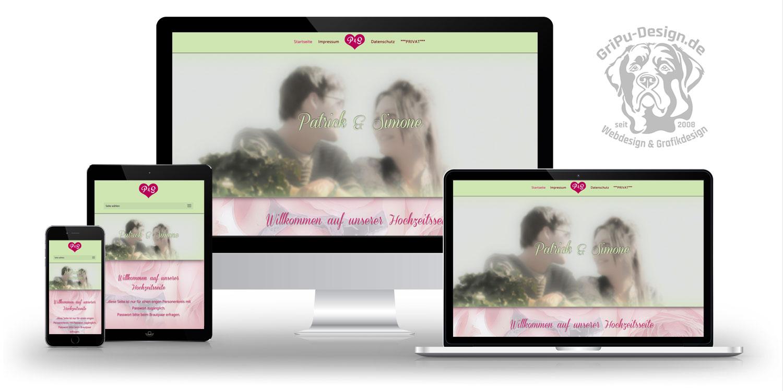 Referenzen Webdesign / Wedding Simone & Patrick