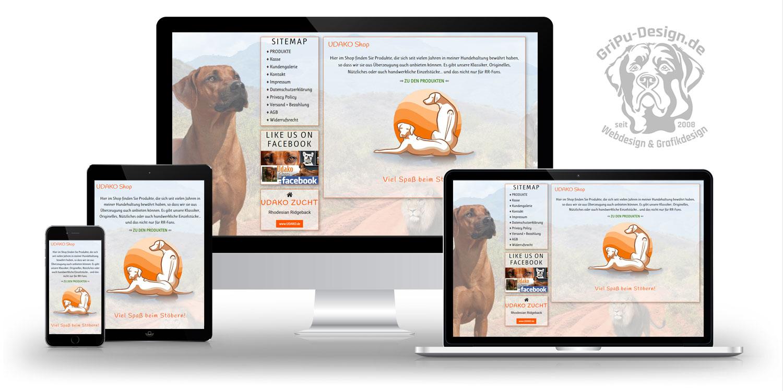 Referenzen Webdesign / Udako Shop