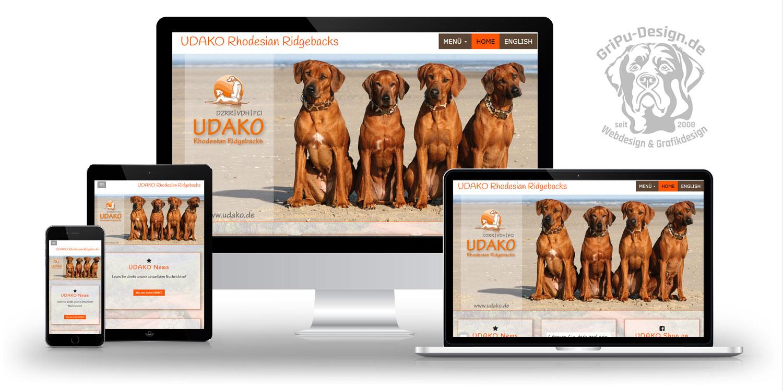 Referenzen Webdesign / Udako Rhodesian Ridgebacks